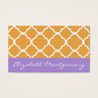 Orange Geometric Modern Appointment Business Card