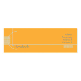 Orange Geometric - Skinny Double-Sided Mini Business Cards (Pack Of 20)