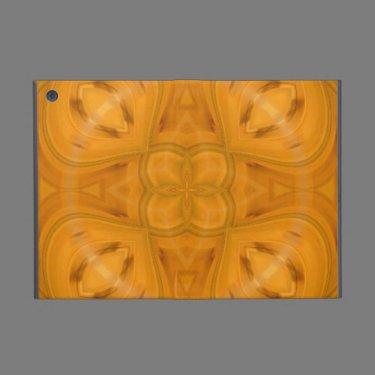 Orange geometric wood pattern cover for iPad mini