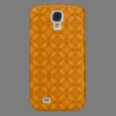 Orange geometric wood pern samsung galaxy s4 cover
