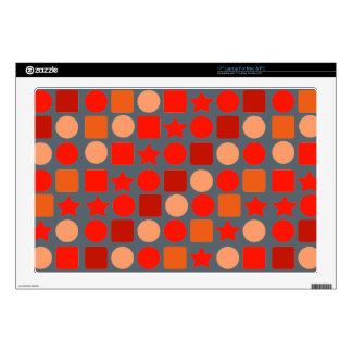 "Orange Geometrics for 17"" Laptop Skins"
