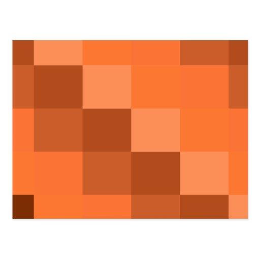 Orange Geometries Postcards