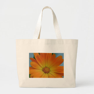 Orange Gerber Daisy Jumbo Tote Bag