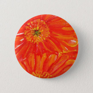Orange Gerbera Daisies Button