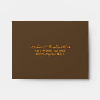 Orange Gerbera Daisy A-2 Size Wedding Envelopes