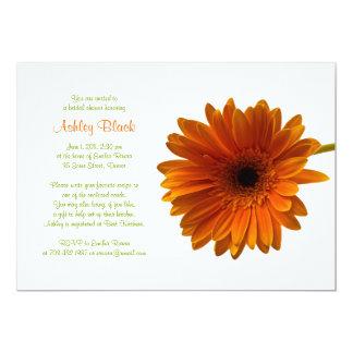 Orange Gerbera Daisy Bridal Shower Invitation