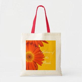 orange gerbera daisy flowers tote bag