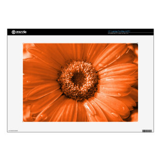 "Orange Gerbera Daisy Skin For 15"" Laptop"
