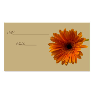 Orange Gerbera Daisy Special Occasion Place Card