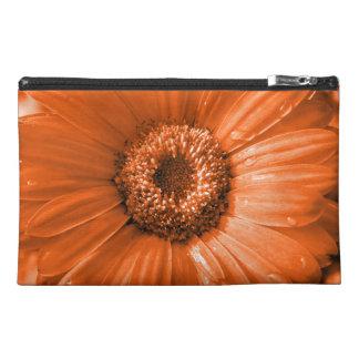 Orange Gerbera Daisy Travel Accessories Bags