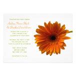 Orange Gerbera Daisy Wedding Invitation