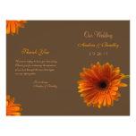 Orange Gerbera Daisy Wedding Program Custom Flyer