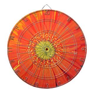 Orange Gerbera Dart Board