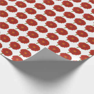 Orange Gerbera on Snow Wrapping Paper