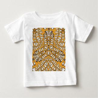 Orange Ghost Mosaic Burst Baby T-Shirt
