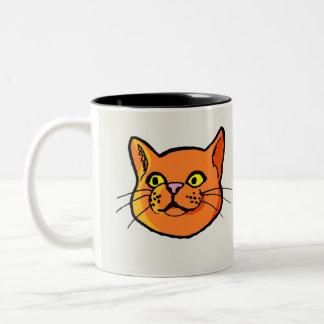 Orange Ginger Cat Drawing Mug