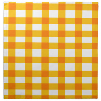 Orange Gingham Cloth Napkin