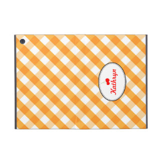 Orange gingham country red cherry chic personal iPad mini covers