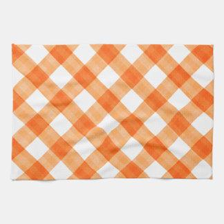 Orange Gingham Kitchen Towels