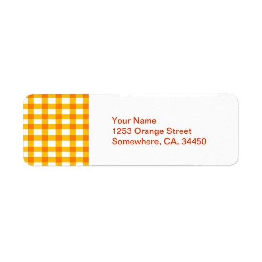 Orange Gingham Label