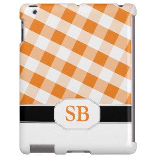 Orange Gingham Monogram Case-Mate iPad 2/3/4 Case