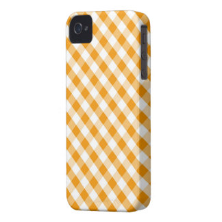 Orange Gingham Pattern iPhone 4 Cover