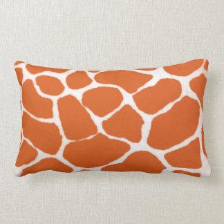 Orange Giraffe Print Lumbar Pillow