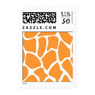 Orange Giraffe Print Pattern. Postage