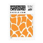 Orange Giraffe Print Pattern. Stamps