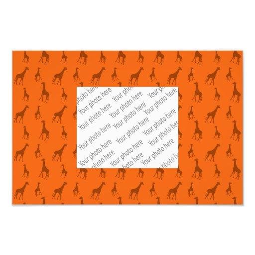 Orange giraffes photo