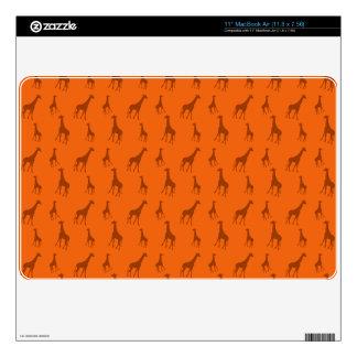 Orange giraffes skins for MacBook air