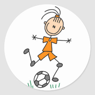 Orange Girls Soccer Sticker