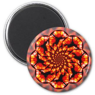 Orange Glass 2 Inch Round Magnet
