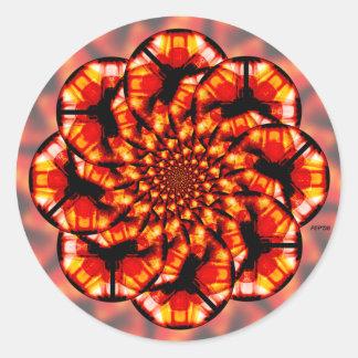 Orange Glass Classic Round Sticker