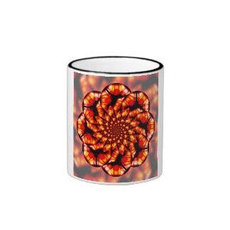 Orange Glass Ringer Mug