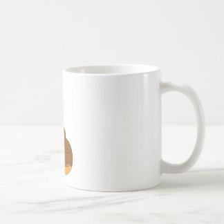 Orange glazed muffin with candles coffee mug