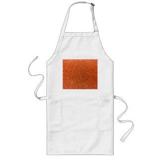 Orange glitter apron