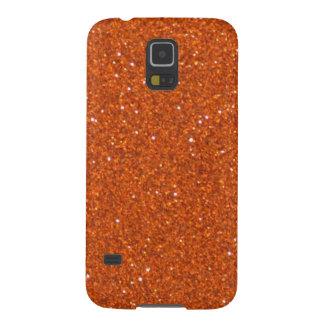 Orange Glitter Galaxy S5 Cover