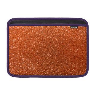 Orange glitter sleeves for MacBook air