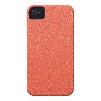 Orange glitter iPhone 4 case