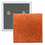 Orange glitter pins