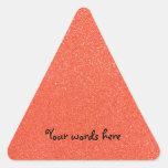 Orange glitter triangle sticker
