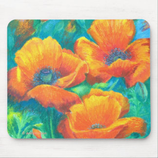 Orange Glory floral Mouse Mat