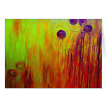 Orange Glow Abstract Art Stationery Note Card