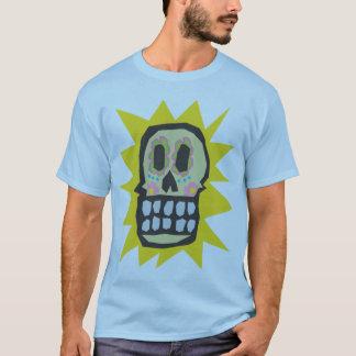 Orange Glow Day of the Dead Halloween Skull T-Shirt