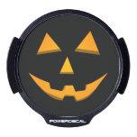 Orange Glow Halloween Jack-O-Lantern LED Car Decal