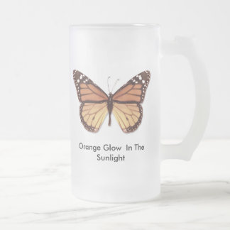Orange Glow In The Sunlight Frosted Glass Beer Mug