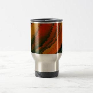 Orange glow 15 oz stainless steel travel mug