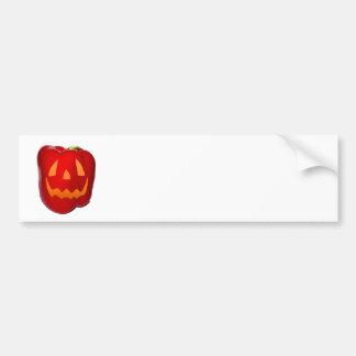 Orange Glow Red Bell Peppolantern Bumper Sticker