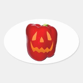 Orange Glow Red Bell Peppolantern Sticker